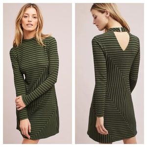 [Anthropologie] Striped Structured Knitwork Dress